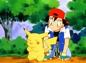 ash hugging pikachu | Tumblr