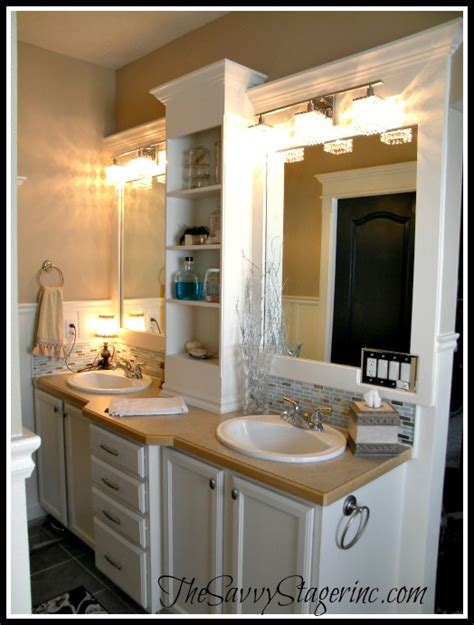 Builder Grade Bathroom Mirror by How To Frame A Builder Grade Mirror A Breakdown Of The