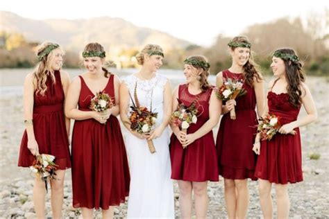 fall wedding colors  bridesmaid dresses fashionsycom