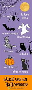 Spanish Halloween Infographic For Kids