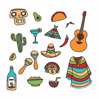 Mexican Doodles Vector Mexico Viva Taco Clipart