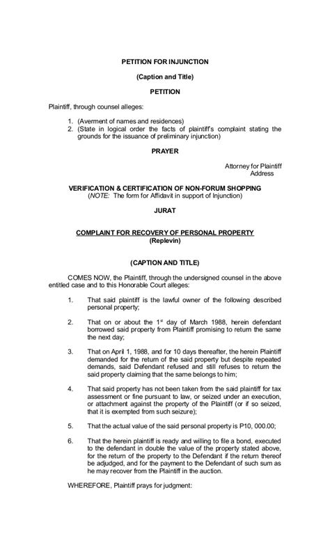 petition for legal separation form kentuckypractice test for the cogat levels 13 14 form 7 sle civil complaint form sarahepps
