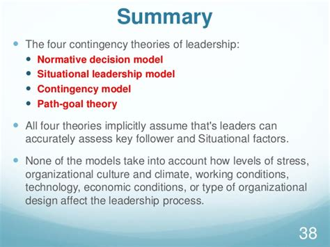 contingency theories  leadership