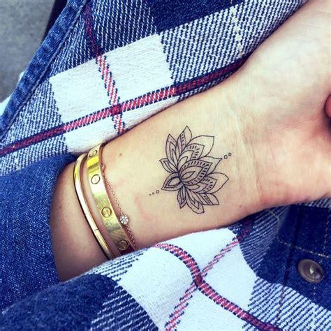 lotus flower tattoo wrist designs ideas  meaning