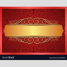 Red And Gold Background Royalty Free Vector Image