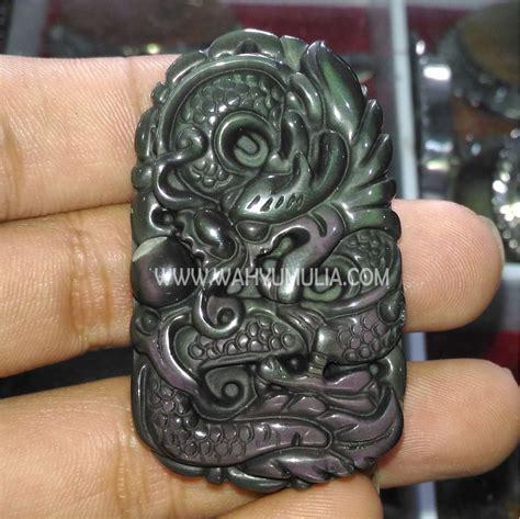 Sepasang Batu Sulaiman Mata liontin batu mata dewa ukir naga kode 469 wahyu mulia