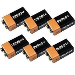 9 volt block batterie 6 x duracell 9v batteries mn1604 6lr61 brand new 9 volt block battery ebay