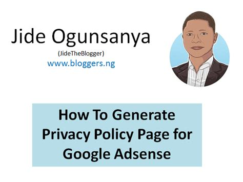 The Adsense Privacy Policy Generator Use How