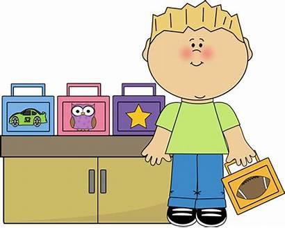 Lunch Clipart Box Breakfast Monitor Clip Preschool