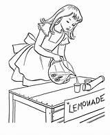 Lemonade Coloring Kolorowanki Lemoniada Pouring Dzieci Dla Preschool Printable Halloween sketch template