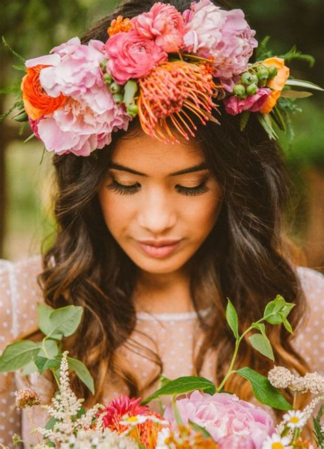 Boho Bridal Trends Flower Crowns