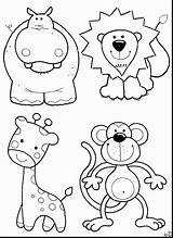 Coloring Animals Pages Grassland Zoo Printable Getcolorings sketch template