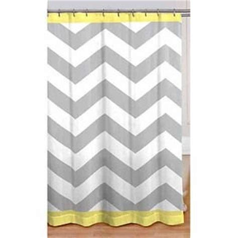 gray yellow white chevron fabric shower