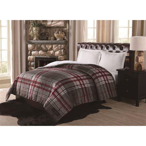 plaid comforter bedroom remington supreme velvet green plaid comforter with plaid bedding and brown wooden
