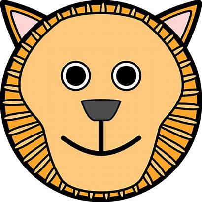 Lion Face Clker Clip Clipart Vector Rounded