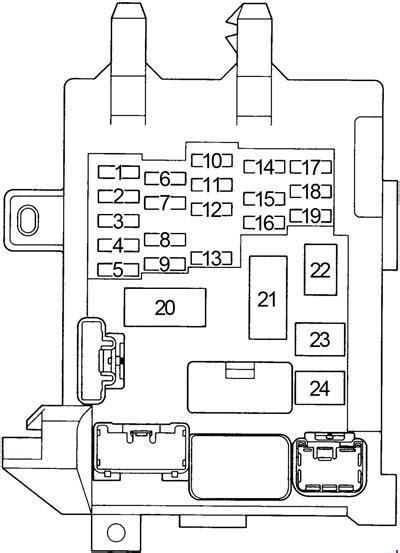 toyota corolla  fuse box diagram fuse