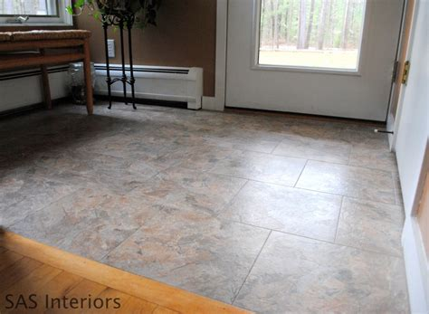 diy how to install groutable vinyl floor tile jenna burger
