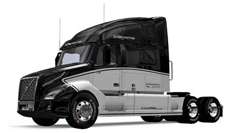 volvo vnl  globetrotter mod skin euro truck simulator
