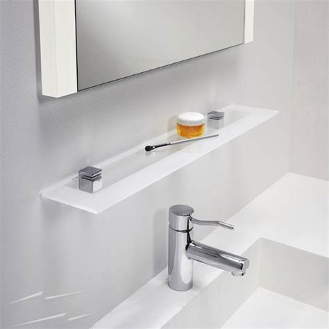 Small Glass Shelf Bathroom by 0862 Glass Shelf For Bathroom In Polished Chrome With