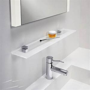 0862 glass shelf for bathroom in polished chrome with With frosted glass shelf bathroom