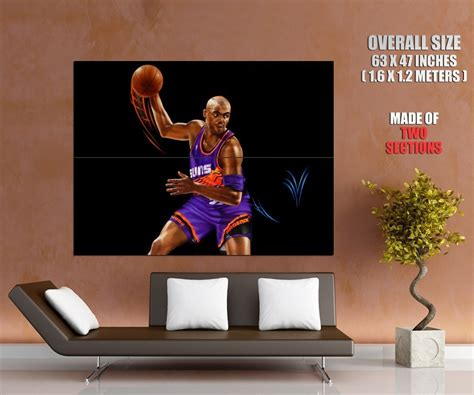 All statistics and awards listed were during the player's tenure with the suns only. Charles Barkley Painting Art Phoenix Suns Retro Giant Huge Print Poster - Art Posters