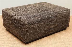 Ottoman Covered With Handwoven Indian Fabric At 1stdibs