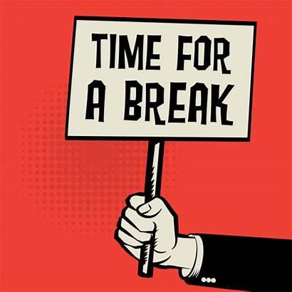 Break Concept Poster Clip Take Vector Illustration