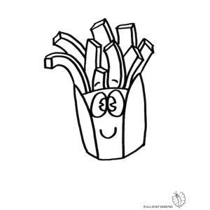 alimenti da colorare disegno di patatine da colorare disegni di alimenti da