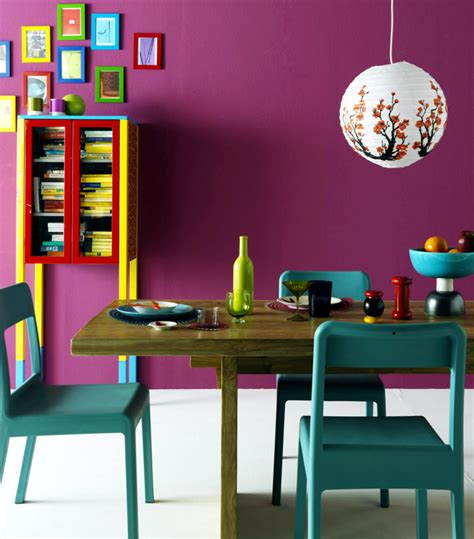 colourful dining room  bright colors interior design
