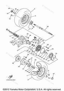Yamaha Atv 2005 Oem Parts Diagram For Rear Wheel