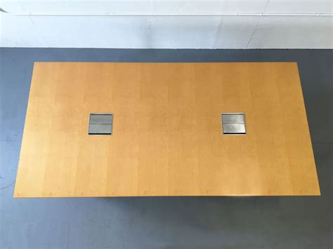 maple conference table  grommets conklin