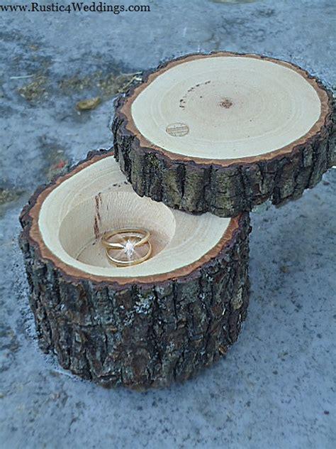 rustic 4 weddings rustic wedding ring holder rustic ring box wedding ring box ring