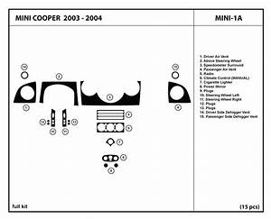 Dash Kit Trim For Mini Cooper 2003 2004 03 04 Wood Carbon