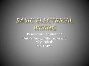 Electrical Wiring Diagram Ppt