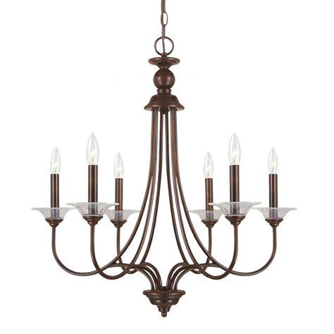 sea gull lighting chandelier shop sea gull lighting lemont 27 in 6 light burnt sienna