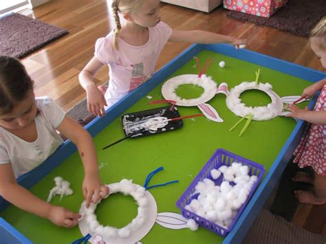 paper plate easter bunny mask learning  kids