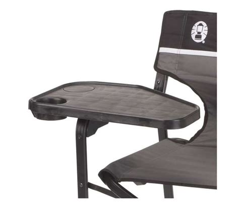 coleman aluminum deck chair with swivel table and drink