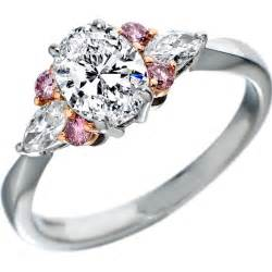pink diamonds engagement rings from mdc diamonds nyc - Pink Engagement Ring