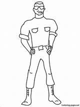 Guard Security Coloring Pages Printable Profession Getcolorings Those sketch template
