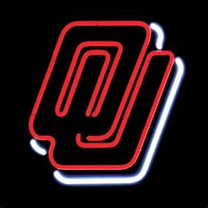 NCAA OU Oklahoma Sooners Football Basketball College Neon