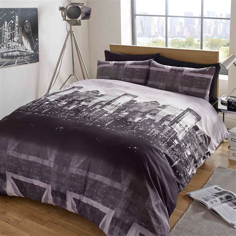 Dreamscene Union Jack Duvet Cover With Pillow Case London