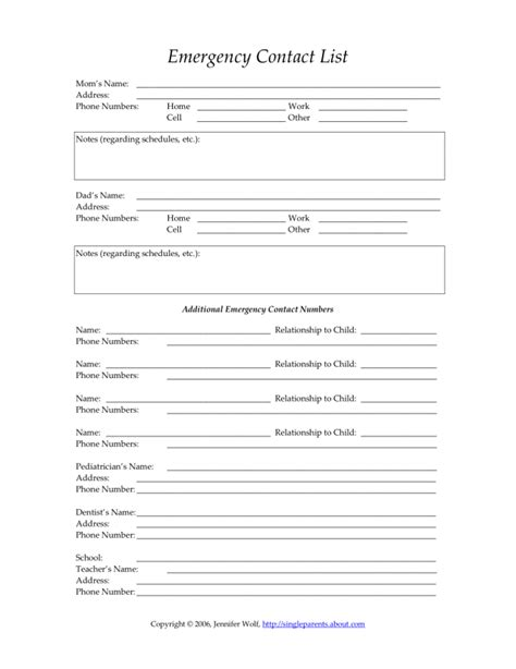 home daycare forms printable reasons to keep your child s emergency contact form up to