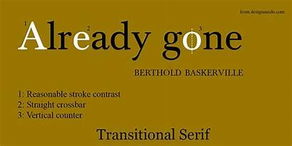 Transitional Serif Fonts Typography Designmodo Typeface Example