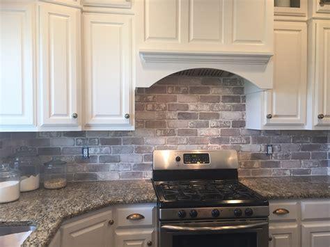 kitchen backsplash tiles brick backsplash in the kitchen easy diy install