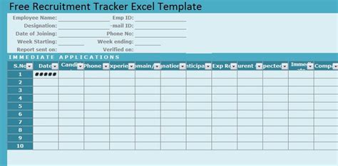 recruitment tracker spreadsheet excel format