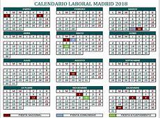 Calendario Laboral 2018 Comunidad de Madrid Pongamos que