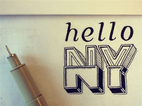 Hello Ny  Hand Lettering By Seanwes. T Youtube Banners. Old School Murals. Yankees Banners. Weekly Special Banners. Maroon Lettering. Aries Signs Of Stroke. 3ds Xl Decals. Radiation Signs