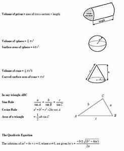 Aqa Gcse Maths Formula Sheet