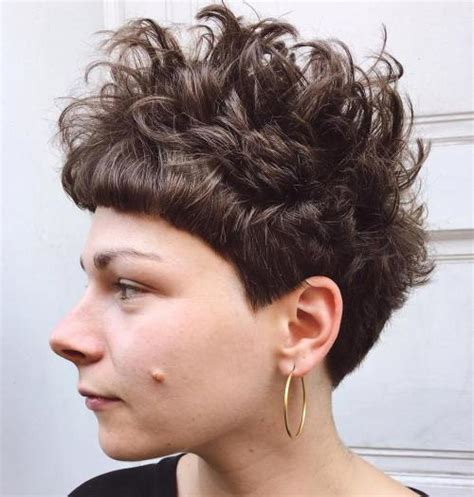 standout curly  wavy pixie cuts
