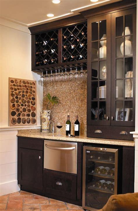 refrigerator  ice maker traditional home bar  coastal living crown molding dishwasher